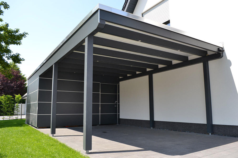 carport verkleiden bilder bruns blick auf schwarzes mit. Black Bedroom Furniture Sets. Home Design Ideas