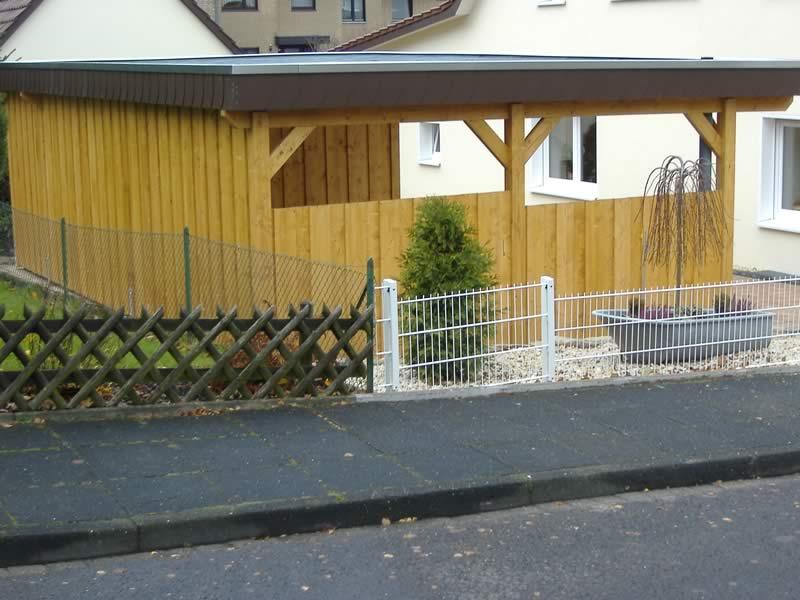 flachdach carport in bielefeld ubbedissen pollmeier. Black Bedroom Furniture Sets. Home Design Ideas