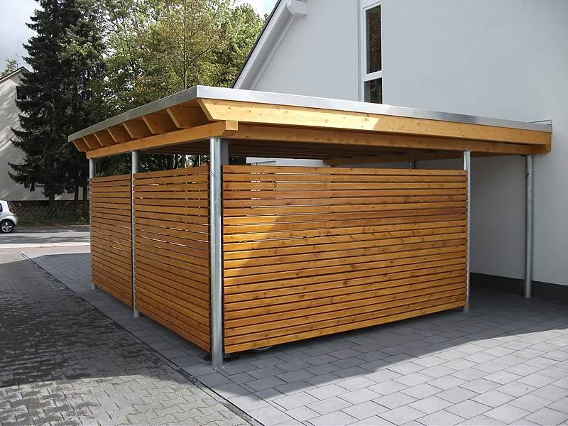 Flachdach-Carport in Gütersloh | Pollmeier Holzbau GmbH