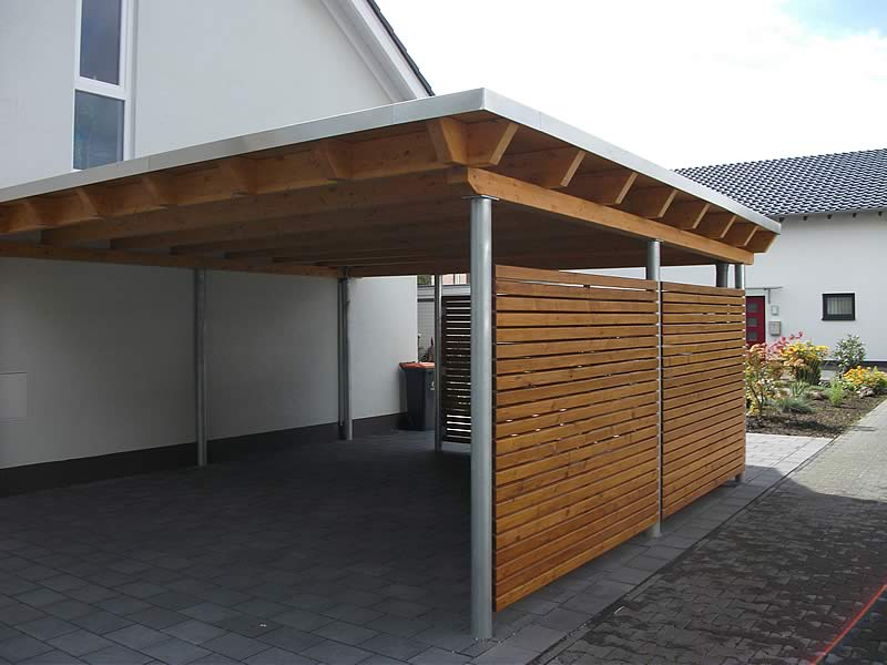 flachdach carport in g tersloh pollmeier holzbau gmbh. Black Bedroom Furniture Sets. Home Design Ideas