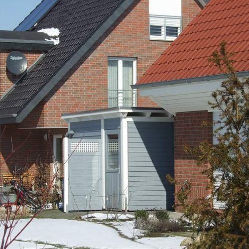 Flachdach-Doppelcarport in Isselhorst