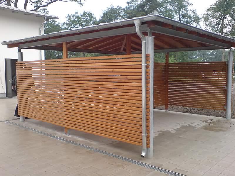 Pyramidendach-Carport in Sennelager | Pollmeier Holzbau GmbH