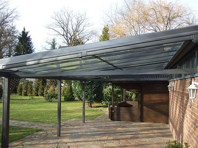 Aluminium-Terrassendach 7 x 4 m in Gütersloh mit unten liegender ...