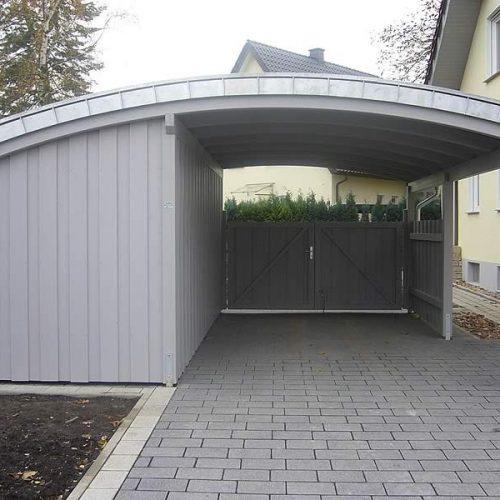 Tonnendach-Carport in Rheda-Wiedenbrück