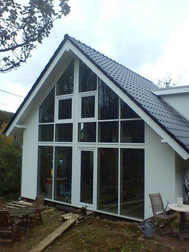anbau in holzrahmenbau in bielefeld mit glasfassade am. Black Bedroom Furniture Sets. Home Design Ideas