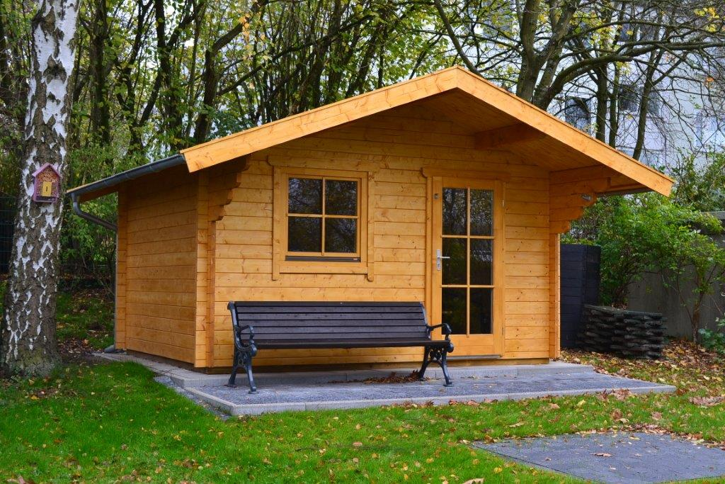 gartenhaus 3x4m aus 45mm blockbohlen in wetter pollmeier holzbau gmbh. Black Bedroom Furniture Sets. Home Design Ideas