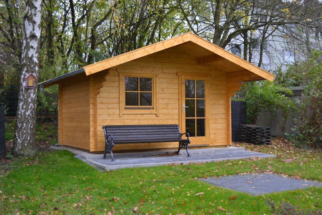 gartenhaus 3x4m aus 45mm blockbohlen in wetter pollmeier. Black Bedroom Furniture Sets. Home Design Ideas