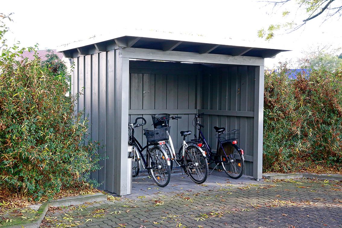 fahrradunterstand für fünf fahrräder gew. nutzung | pollmeier