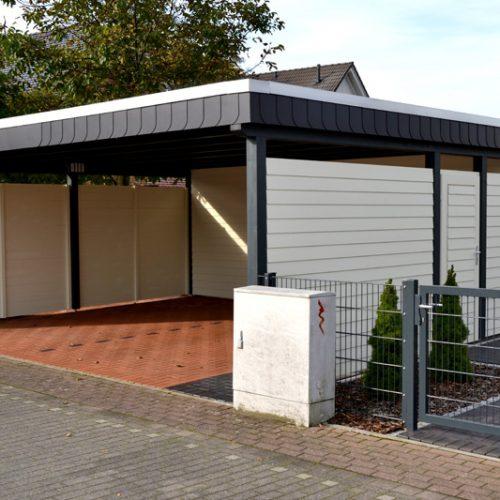 Flachdachcarport mit Abstellraum in Bielefeld