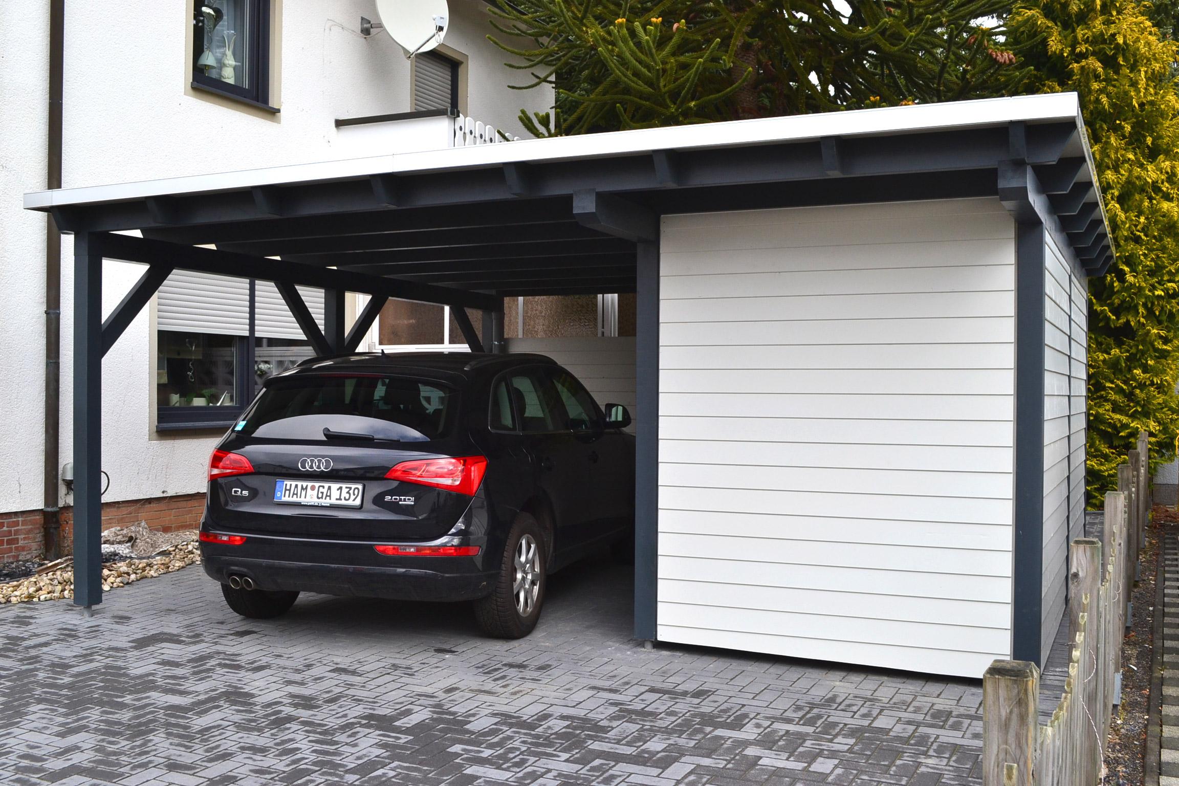 TerrassenUberdachung Holz Hamm ~ Carport mit Abstellraum Hamm  Pollmeier Holzbau GmbH