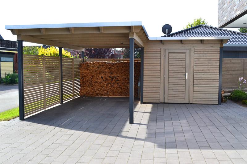 carport mit abstellraum in neuenkirchen pollmeier holzbau gmbh. Black Bedroom Furniture Sets. Home Design Ideas