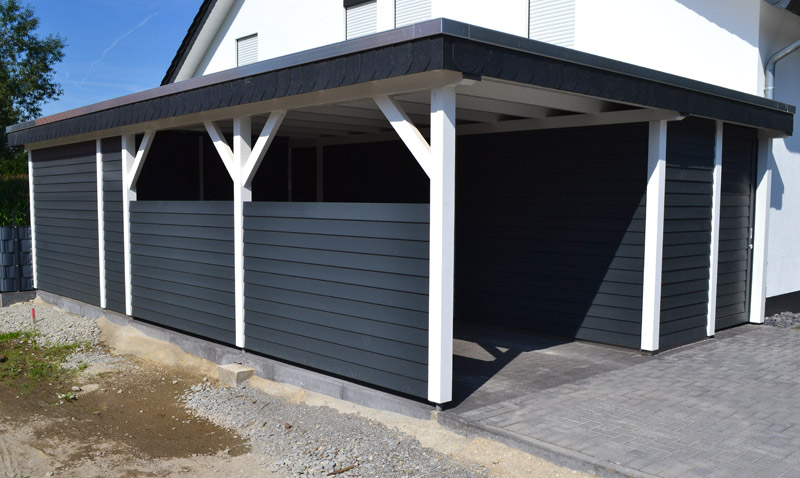 Fantastisch Carport mit Abstellraum in Westerwiehe | Pollmeier Holzbau GmbH TW54