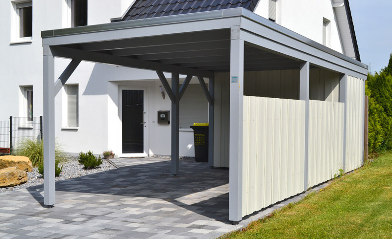 Aluminium Carport Mit Abstellraum. Best Aluminium Carport