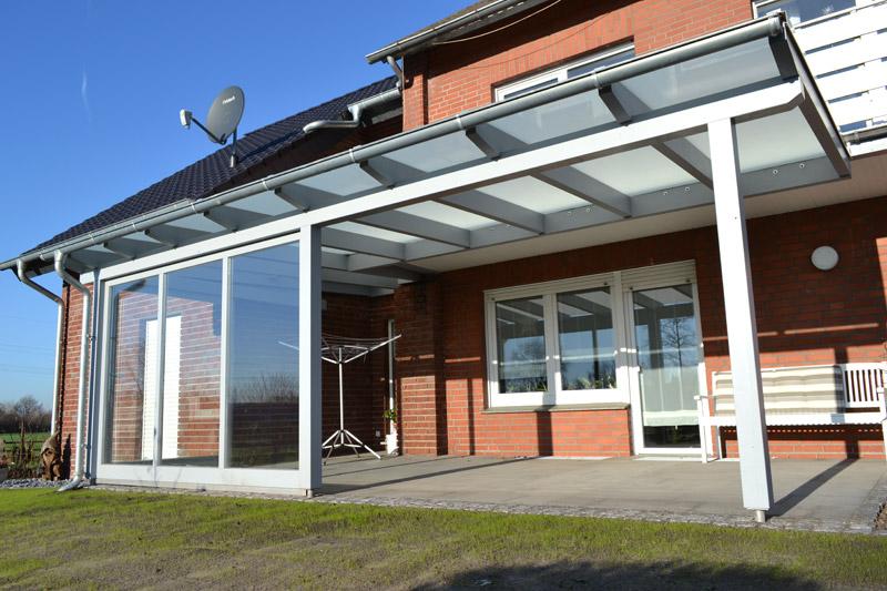Terrassendach Mit Seitenteil Und Schiebetur Lintel Pollmeier