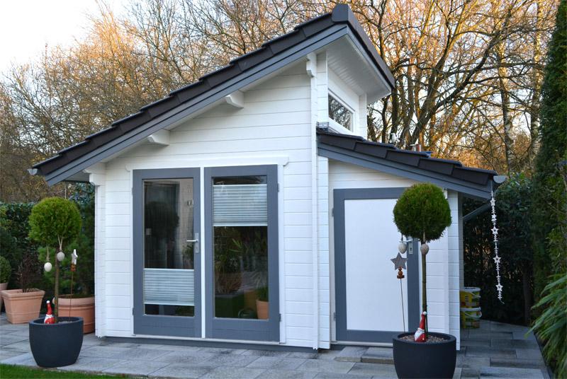 gartenhaus mit versetzten pultdach bielefeld pollmeier. Black Bedroom Furniture Sets. Home Design Ideas