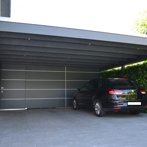 Doppelcarport mit 8mm Trespa-Platten und Abstellraum in Verl