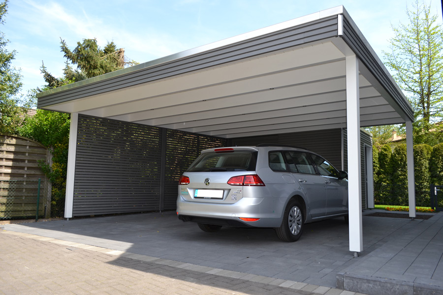 Gabionen carport steelmanufaktur