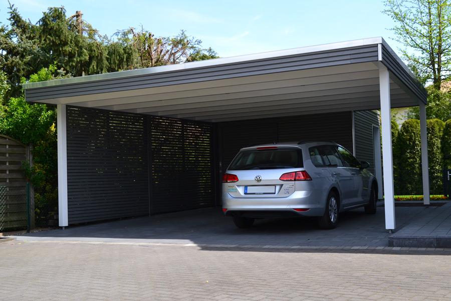 Doppelcarport mit Abstellraum in Verl | Pollmeier Holzbau GmbH