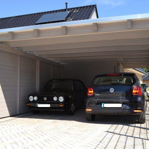 Doppelcarport mit Abstellraum und Rhombusprofil in Herford