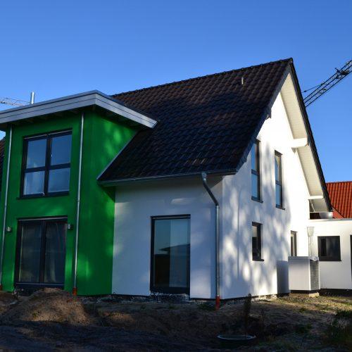 Hausbau in Holzrahmenbauweise in Riege