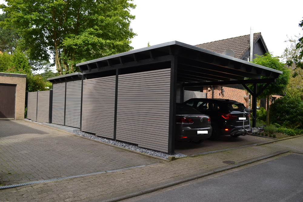 carport mit abstellraum in bielefeld pollmeier holzbau gmbh. Black Bedroom Furniture Sets. Home Design Ideas