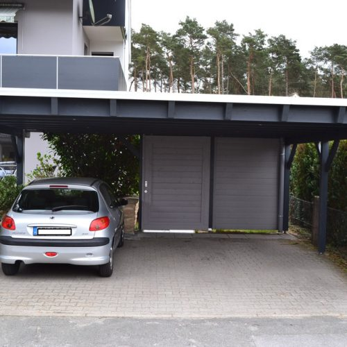 Doppelcarport als Flachdach in Paderborn