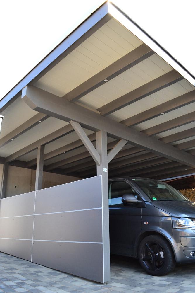 Doppelcarport mit Trespa-Verkleidung in Oelde   Pollmeier Holzbau GmbH