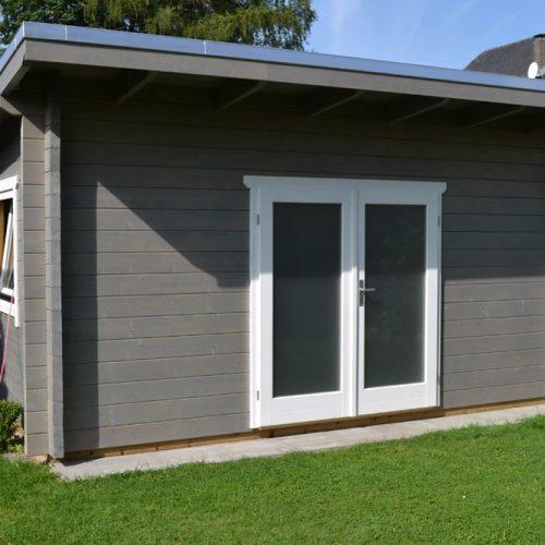 Pultdachgartenhaus aus 70mm Blockbohle in Gütersloh