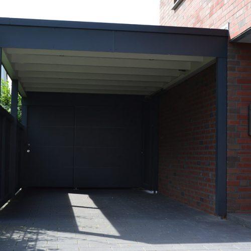 Trespa-Carport mit Abstellraum in Gütersloh