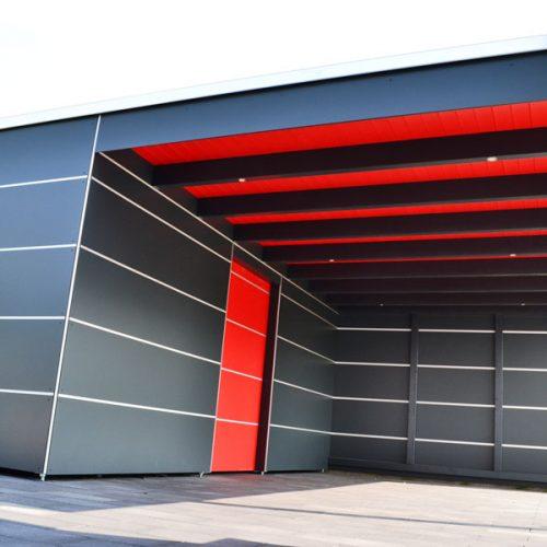 Carport mit Abstellraum und HPL-Platten in Bielefeld