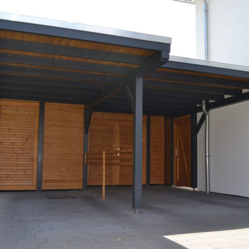 Doppelcarport mit Abstellräumen in Beckum