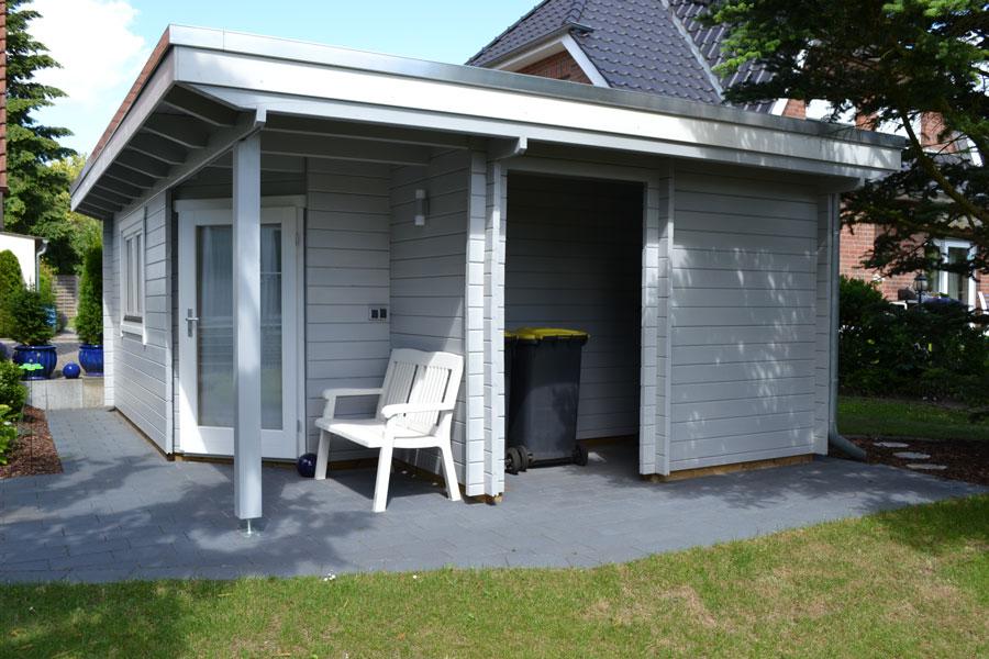 flachdachgartenhaus aus 45 mm blockbohlen in steinhagen. Black Bedroom Furniture Sets. Home Design Ideas