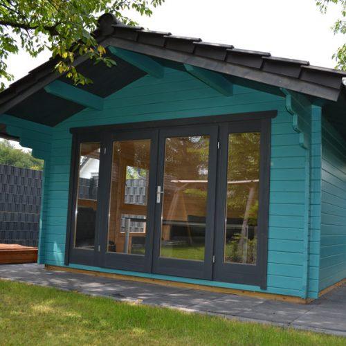 Gartenhaus 4 m x 4 m aus 45 mm Blockbohle in Oelde