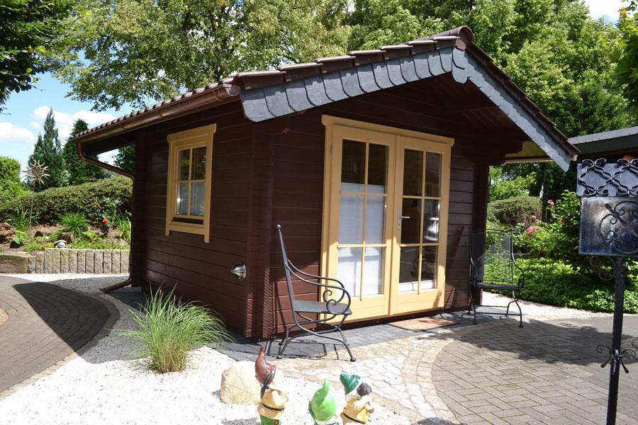 gartenhaus aus 45 mm blockbohlen in g tersloh pollmeier. Black Bedroom Furniture Sets. Home Design Ideas