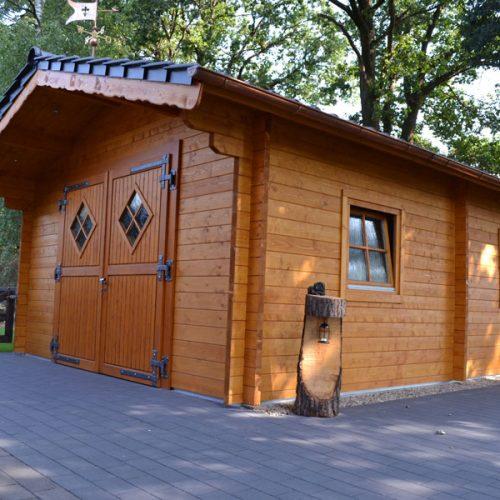 Gartenhaus aus 70 mm Blockbohlen in Delbrück