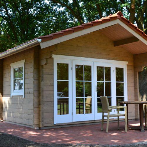 Gartenhaus aus 70 mm Blockbohlen in Warendorf