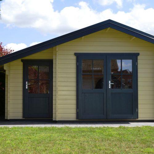 Gartenhaus mit Abstellraum aus 45 mm Blockbohlen in Oelde