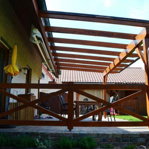 Holzterrassendach mit VSG in Mantinghausen