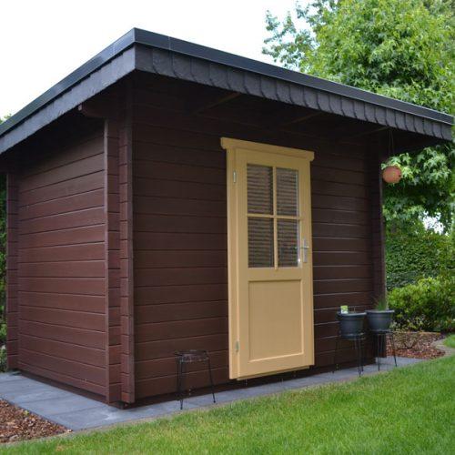 Pultdach Gartenhaus aus 45 mm Blockbohlen in Spexard