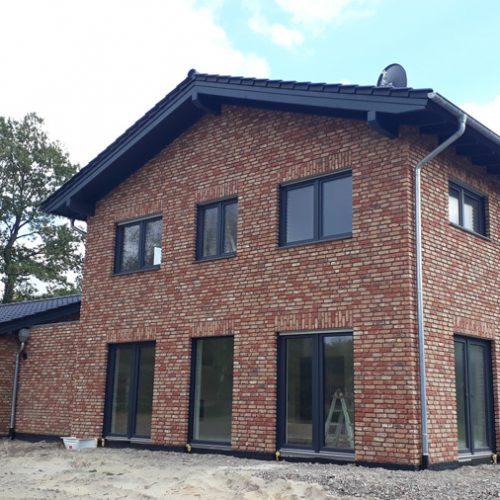 Holzrahmenbau mit Klinkerfassade in Delbrück