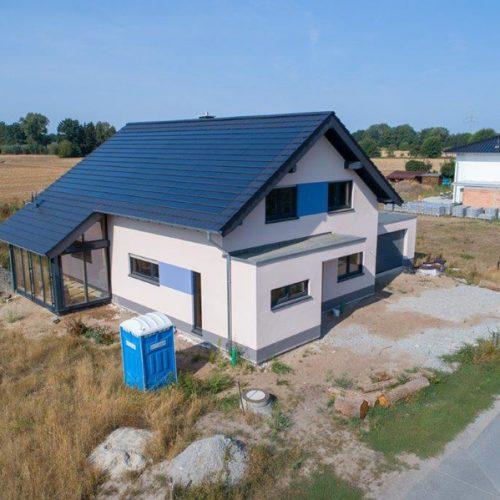 Holzrahmenbau mit Photovoltaikziegel