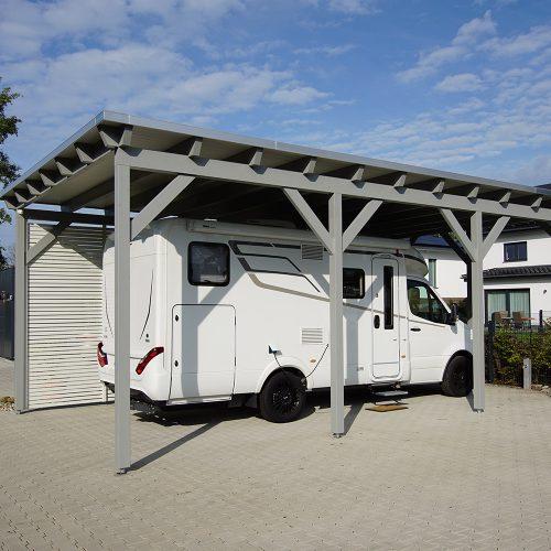 Flachdachcarport für ein Wohnmobil in Gütersloh