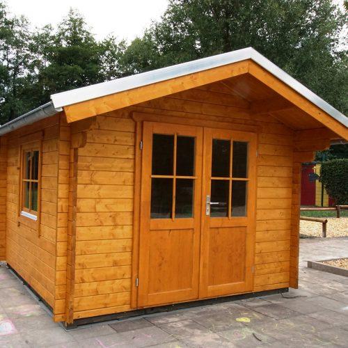 Gartenhaus aus 45mm BB in Mastholte