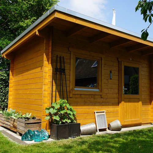 Pultdachgartenhaus aus 45mm BB in Oelde