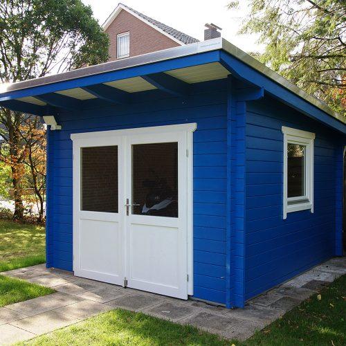 Pultdachgartenhaus aus 45mm BB in Rietberg