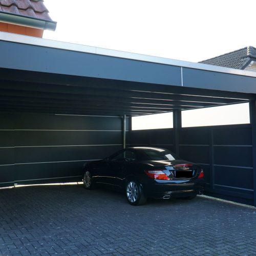 Doppelcarport mit HPL Platten in Paderborn