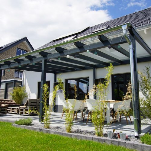 Holzterrassendach in Beckum